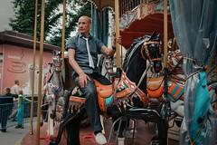 Карусель / Carousel (spoilt.exile) Tags: украина киев крещатик карусель мужчина конь улица стрит весна ukraine kiev kyiv khreschatyk carousel man horse street streetphotography