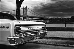Malibu (Mroovac) Tags: malibu malibuss car classiccar chevrolet vintagecar carshow bridge river riverfront riverwalk astoria queens newyork street streetphotography blackandwhite bw nikon nikond850 voigtländer voigtlanderultron40mmf2sliis