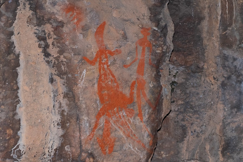 Ancient indigenous rock art, Nourlangie Rock, Kakadu NP, NT, Australia.02