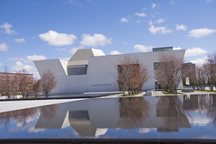 Aga Khan Museum (Rackelh) Tags: building architecture reflection sky spring museum structure toronto ontario canada