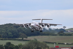 RAF BAe 146 (Dougie Edmond) Tags: prestwick scotland unitedkingdom military aircraft