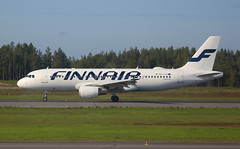 Finnair OH-LXC Airbus A320-214 flight AY434 departure from Oulu OUL Finland bound for Helsinki HEL FinlandFinnair (Cupertino 707) Tags: finnair ohlxc airbus a320214 flight ay434 departure from oulu oul finland bound for helsinki hel finlandfinnair