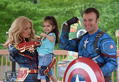 Captains Marvel and America (MTSOfan) Tags: comics marvelcomics captainmarvel captainamerica girl fun shield strong costumes superhero cute avengers