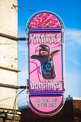 Voodoo Lady (Thomas Hawk) Tags: america oregon pdx portland usa unitedstates unitedstatesofamerica voodoodoughnut westcoast donut doughnut doughnuts neon neonsign voodoo
