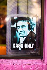 A Little Cash (Thomas Hawk) Tags: america johnnycash oregon pdx portland usa unitedstates unitedstatesofamerica voodoodoughnut voodoodoughnuttoo westcoast cashonly donut donuts doughnut doughnuts voodoo