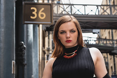 Ecce! (C-Imagery) Tags: beauty urban brunette london location portrait purpleport purestorm pout lips fashion style headshot