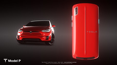 Tesla Model P concept Phone (Martin uit Utrecht) Tags: tesla model p modelp mobile phone cellphone concept automotive elon musk