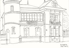 Rue dupont des loges à Rennes  by Guénaël - 5 juin 19 (GwenFromRennes) Tags: rennes croquis sketch ruedupontdesloges