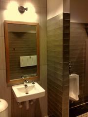 New mens (Ward's Works) Tags: rustic 4wwc men wisconsin 🍞 restroom urinal panera manitowoc