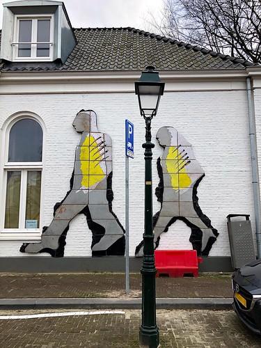 Mannen op de muur - Noordwal Den Haag