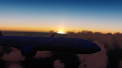 [P3D v4.5] in flight | UAL901 | KSO-LHR (danielrds) Tags: p3d prepar3d b77w t7 oversea sea atlantic crossthepond ual901 n2333u sunset london sanfrancisco
