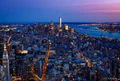 Lower Manhattan at Sundown (janmalteb) Tags: new york city usa night nacht stadt canon eos 77d tamron 18200mm