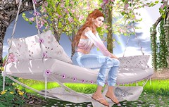 Flowers and glows (Rose Sternberg) Tags: liz shape for genus bento project baby face head maitreya lara body second life event june 2019 doux scandalize yanne collabor88 collabor 88 mosquitos way the liaison collaborative tm creation tmcreation swan mon amour swing