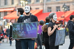 195620-0024 (felixfortheanimals) Tags: anonymous voiceless vegan activism cube truth montreal animal