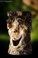 Holzfigur / Wood figure (R.O. - Fotografie) Tags: holzfigur wood figure gesicht face nahaufnahme closeup close up garten garden deko sommer2019 summer2019 bokeh rofotografie panasonic lumix dmcgx8 dmc gx8 gx 8 100400mm leica outside outdoor nieheim