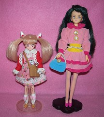 Chibi Usa with Setsuna (and Diana!) (Ultimately_Optic) Tags: sailormoon sailormoons chibiusa setsuna diana dolls fashions bandai 1994