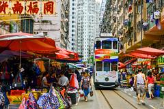 春秧街景(DSC_4352) (nans0410(busy)) Tags: hongkong street chunyeungstreet 叮叮車 香港 北角 春秧街 香港電車 northpoint 街景