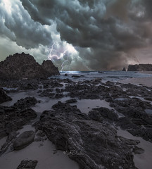 The Storm (FrozenBlizzard Photography) Tags: calayanisland calayan canon storm sea clouds darkclouds lightning island canon5dmkiv canon1635mm canon1635mmf4 nature naturelover landscape landscapephotography philippines frozenblizzard waves rocks stones sky thunderstorm thunder badweather sand