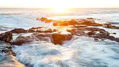 Well? (Tim Drivas) Tags: sunset shore waves longexposure ocean hawaii bigisland wawalolibeachpark wawaloli movement
