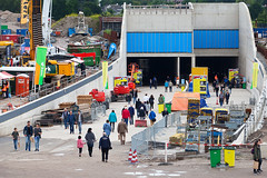 Onder het dienstgebouw doorlopen (Rotterdamsebaan) Tags: vlietzoom denhaag infra infrastructuur bouwen techniek rotterdamsebaan dagvandebouw tunnel
