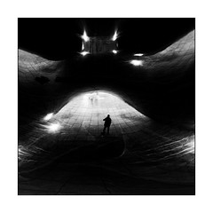 Man in the midlle (Jean-Louis DUMAS) Tags: art twop noretblanc award monochrome abstrait abstract reflecting reflections noir blanc black white photos bnw nb ngc artistic artiste artist artistique bw line courbe curve ligne square carré reflets reflection architecture architectural architect