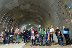 Bezoekers in de tunnel (Rotterdamsebaan) Tags: vlietzoom denhaag infra infrastructuur bouwen techniek rotterdamsebaan dagvandebouw tunnel