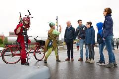 Fietsbarbaren heten bezoekers welkom (Rotterdamsebaan) Tags: vlietzoom denhaag infra infrastructuur bouwen techniek rotterdamsebaan dagvandebouw tunnel