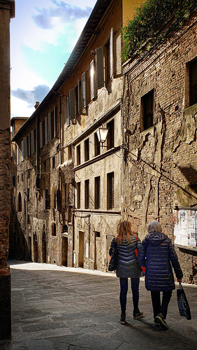 Afternoon walk in Siena, Italy
