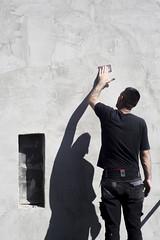 Urban Shadows (youdoph) Tags: man silhouette shadow wall street