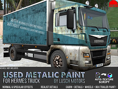 Used Metalic Paint for Hermes Truck - REDSUN (cuuka) Tags: sl secondlife second life red sun hermes truck paint rustic metalic old blue