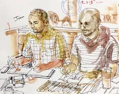 sketchers (kumi matsukawa) Tags: uskjapan usk sketch tsukishima tsukudajima