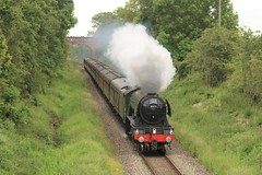 MOST ICONIC LOCO IN THE WORLD (Malvern Firebrand) Tags: 60103 flying scotsman smokes stoulton pershore return trip london worcester 15619 1z27 1631 shrub hill paddington west coast railway company wcrc worcestershire steam special railtour vehicles br lner pacific 462 a3 transport rural countryside scenery scenic passenger trees 2019 trains railroad railways