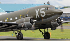 "N62CC ""Virginia Ann"" Douglas DC-3-C-47A-DL taxis for departure from Prestwick to Duxford to participate in the 75th D Day commemoration in Normandy. 27/5/19. (BS Images.) Tags: dakota daksovernormandy douglas aircraft airport aviation ayrshire egpk glasgowprestwick gpa prestwick prestwickairport pik southayrshire scotland"
