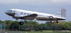"N47E Douglas DC-3C (C47A) ""Miss Virginia""  departs Prestwick for Duxford. 27-05-19 (BS Images.) Tags: dakota daksovernormandy douglas aircraft airport aviation ayrshire egpk glasgowprestwick gpa prestwick prestwickairport pik southayrshire scotland"