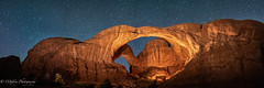 Double Arch Under the Stars (OJeffrey Photography) Tags: doublearch archesnationalpark stars starscape nightsky nightscape lll lowlevellighting panorama pano ut utah ojeffrey ojeffreyphotography jeffowens