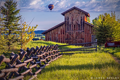 Up In the Air (James Neeley) Tags: idaho driggs tetonvalley ballon barn landscape jamesneeley