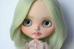 Mint (Art_emis) Tags: mint custom blythe doll ooak handmade hand painted reshaped altered carved simply peppermint rbl fair skin takara toy photography artemis art work collectible toys