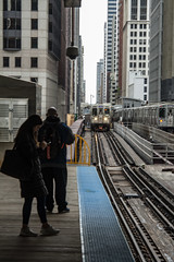 Arriving (jfre81) Tags: chicago loop el train elevated merchandise mart brown purple line people riders platform city urban james fremont photography jfre81 canon rebel xs eos