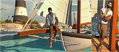 "A'Hoy! (Daniel ""Muffin"" McMahn) Tags: catwa stealthic magnificent straydog sl secondlife mesh bento focus poses blogger galvanized baja sailing mens"