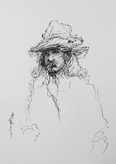 (Gasheh) Tags: art painting drawing sketch portrait man people line pen gasheh 2019