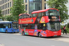 Stagecoach East . Cambus  . 13812 BV18YBE . Cambridge Railway Station . Monday 17th-June-2019 . (AndrewHA's) Tags: cambridge station bus stagecoach east cambus volvo b5tl wright wrightbus eclipse gemini 13812 bv18ybe city sightseeing open top