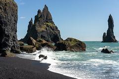 Reynisdrangar (Mattias Hedberg) Tags: rock summer beach landscape nature water vik black sea stack iceland waves