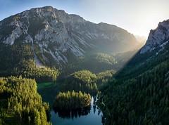 Green Lake - Birdseye (Wim Air) Tags: green lake grüner see wimairat steiermark alps alpen bäume berge felsen tide