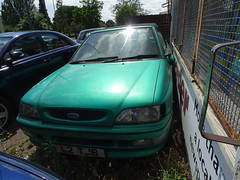 1994 Ford Escort 1.8 Si Cabriolet (Neil's classics) Tags: 1994 ford escort 18 si cabriolet abandoned car