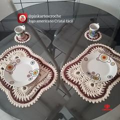 Jogo Americano Cristal Fácil (by Rosana Recchia) Tags: jogoamericano jogoamericanocroche croche crochet crochê diy pinkartescroche circuloprodutos semprecirculo mesaposta mesadecorada crocheiras crocheting crocheterapia