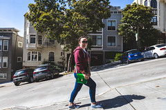 The Streets of San Francisco (Strangelove 1981) Tags: 2019 america sanfrancisco usa holiday hills california steep michelle walking uphill