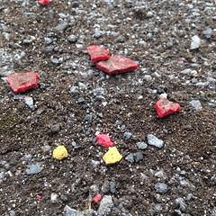 Playground archeology (kpc) Tags: archeology playground gravel paint