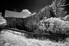 _DSC1204 Belanger Creek Barn (Charles Bonham) Tags: belangercreek barn m22 michigan blackandwhite infrared sonya7r sonyzeissfe1635mmf4 charlesbonhamphotography