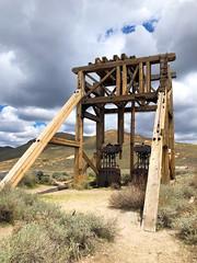 Bodie State Historic Park (valeehill) Tags: oths overthehillsisters roadtreking bodie ghosttown miningtown bodiestatehistoricpark california headframe elevatorcars miningequipment