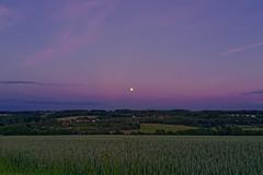 Moonwatch (Coup330) Tags: zeiss sony f2 sonnar rx1rii moon landscape fullmoon blue hour outside mond landschaft blauestunde vollmomd wülfrath fullframe